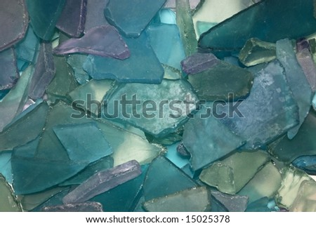 blue purple beach glass