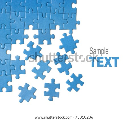 blue puzzle - stock photo