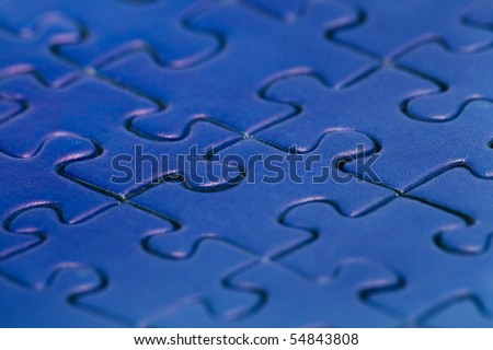 Blue puzzle background/cover/page