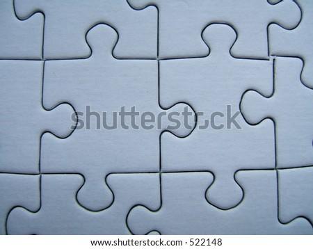 Blue puzzle close-up