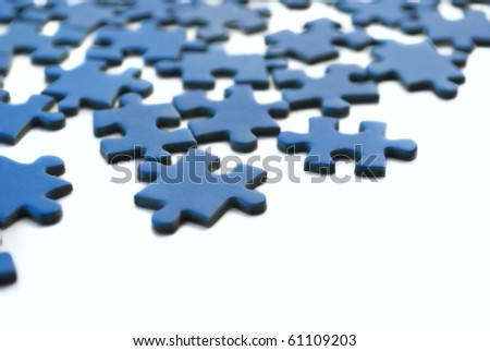 blue puzzle isolated