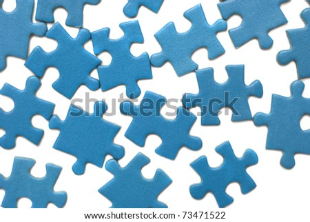 blue puzzle isolated over white