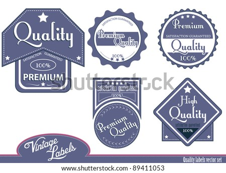 Blue quality labels.Vector version available in my gallery.