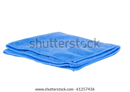 Blue rag on a white background