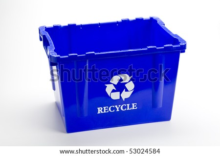 Blue recycle bin empty