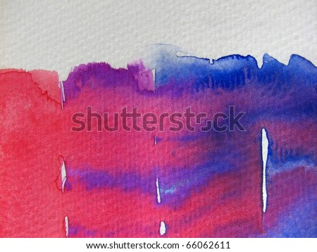 Blue & Red Watercolor Background 2