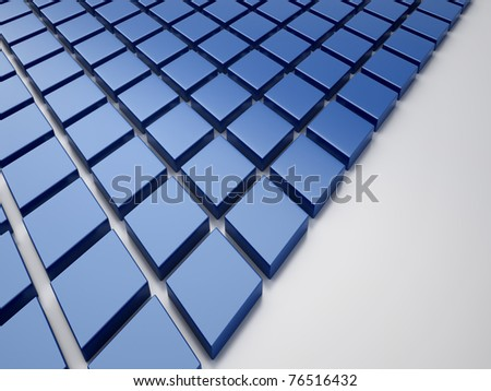Blue reflective background with rhombs and space