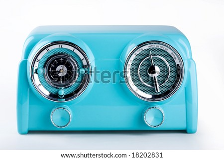 blue retro radio
