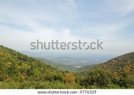Blue Ridge Mountain rolling hills