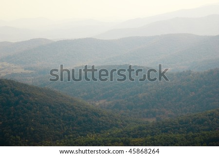 blue ridge mountains - stock photo