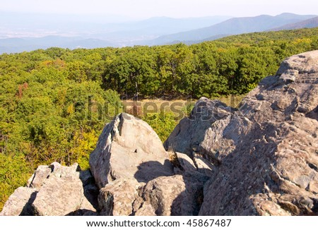 blue ridge mountains and rock formations
