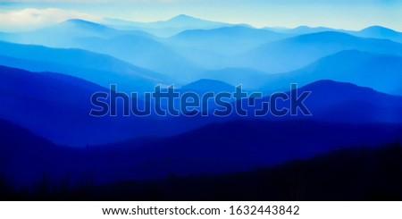 Blue Ridge Mountains, Shenandoah National Park, Virginia, USA Stock photo ©