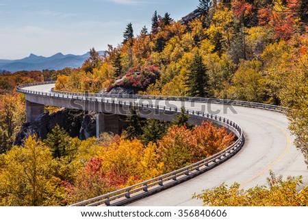 Blue Ridge Parkway at fall #356840606
