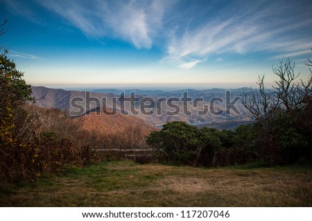Blue Ridge Parkway Landscape at north carolina