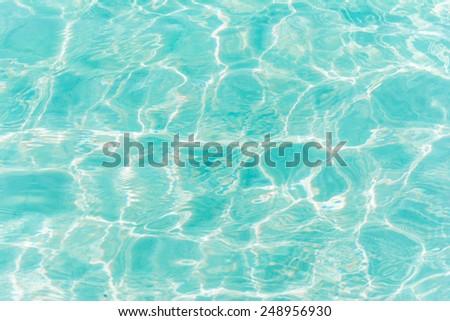 Blue ripple water wave in sea ocean.