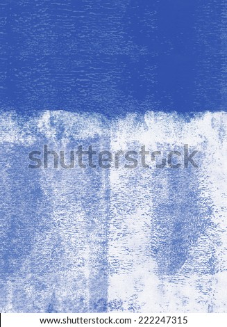 Blue rolled paint background