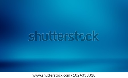 Blue room in the 3d. Background