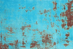 Blue rusty metal texture background
