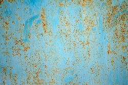 Blue rusty metal texture background. Use as illustration for presentation.