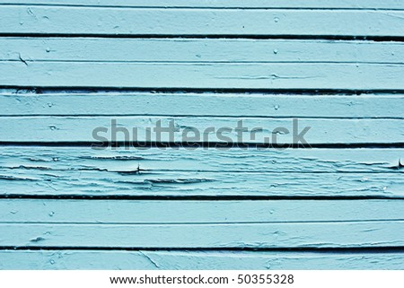 blue rusty vintage wooden planks background