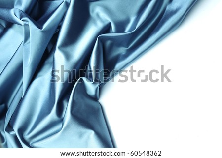 blue satin isolated