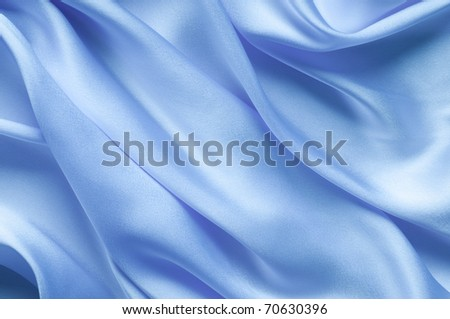 Blue satin textile