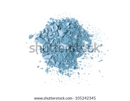 blue scattered cosmetic shadows