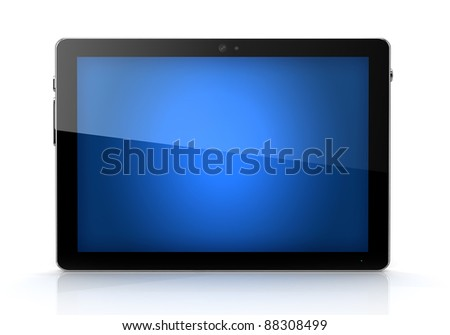 Blue screen digital pad isolated- own design