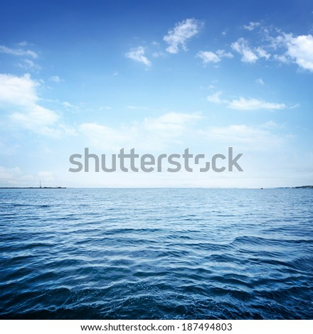 Blue sea #187494803