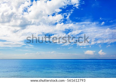 blue sea and a moving...