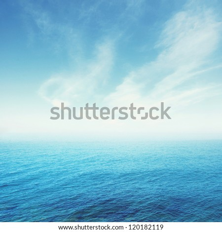 blue sea and sky background   ; nature background