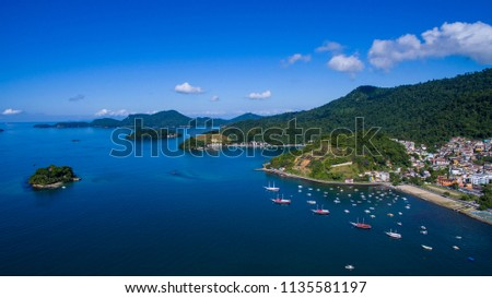 Blue sea and wonderful landscapes, Angra dos Reis, Rio de Janeiro state Brazil South America  Stock foto ©