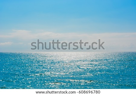 Blue Sea Horizon #608696780