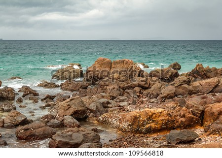 Blue Sea On Overcast Day