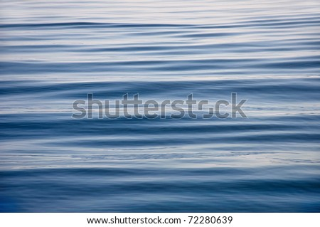 blue sea surface is calm