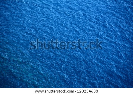 Blue sea surface with waves