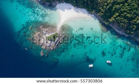 Blue sea top view, Racha noi island, Phuket, Thailand