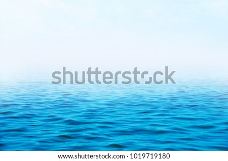 Blue sea water background #1019719180