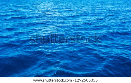 Blue sea water background #1292505355