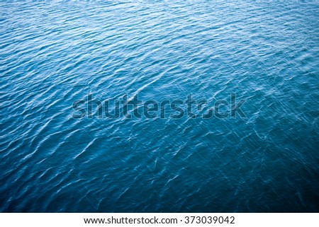 Blue sea water surface as natural texture #373039042