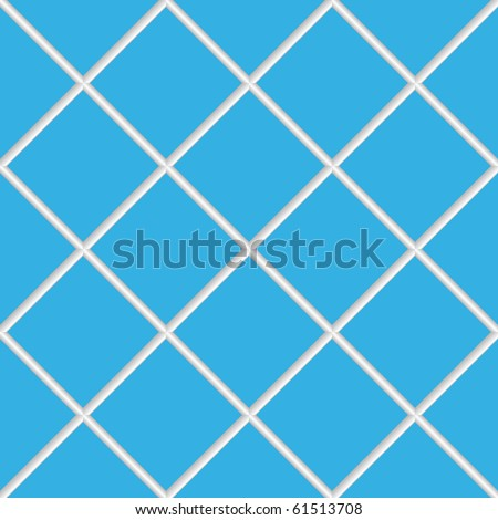 blue seamless ceramic tiles, abstract diagonal texture; art illustration; for vector format please visit my gallery