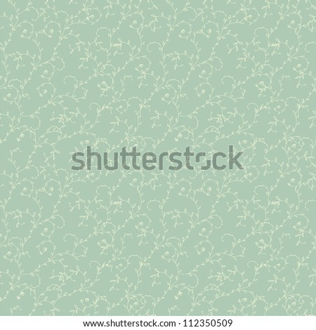 blue seamless floral pattern