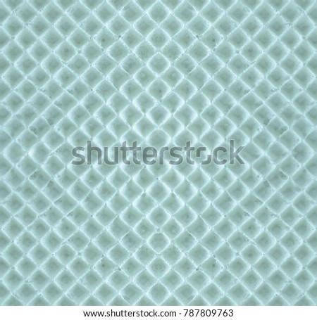 Blue seamless geometric texture of waffles. Waffle symmetrical abstract background with rhombus-honeycomb #787809763