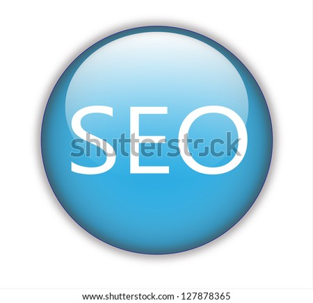 Blue SEO glossy button