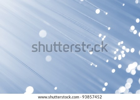 blue shining fiber optic