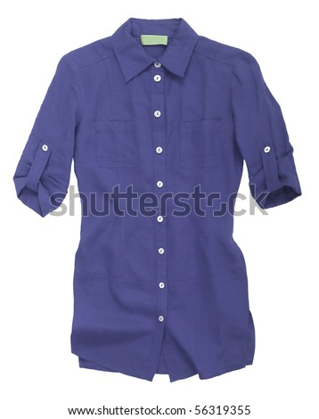 blue shirt - stock photo