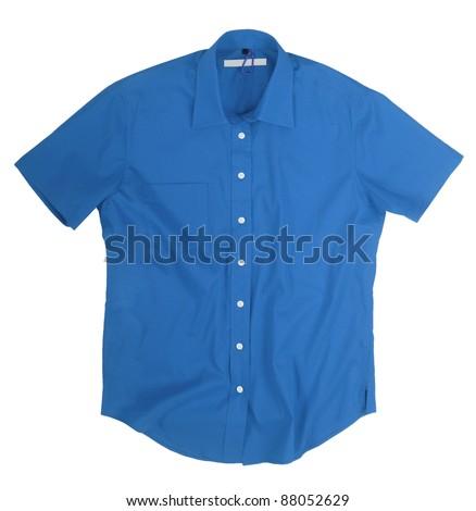 blue shirt - stock photo