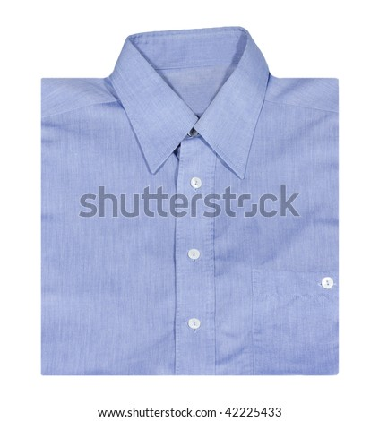 Blue Shirt isolated on the white background