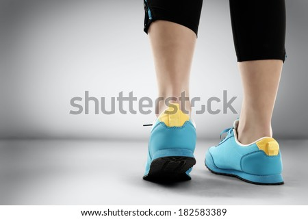 blue shoes of sport