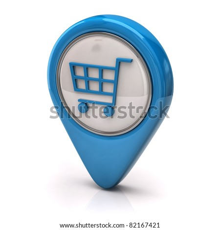 Blue Shopping cart icon